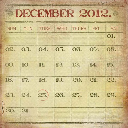 Kaisercraft - Twig and Berry Collection - Christmas - 12 x 12 Paper with Varnish Accents - Calendar