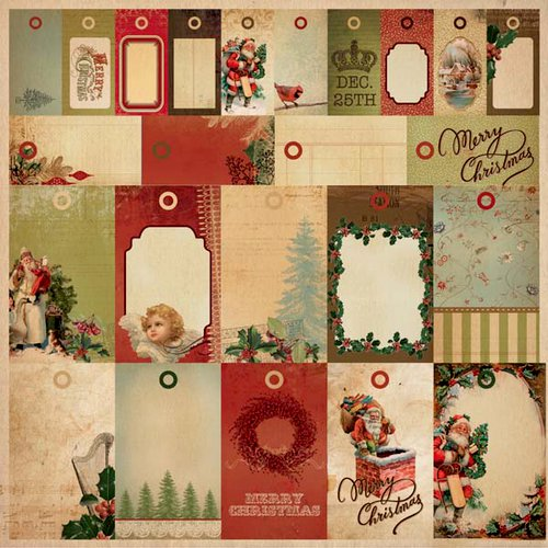 Kaisercraft - Turtle Dove Collection - Christmas - 12 x 12 Perforated Paper - To Froms