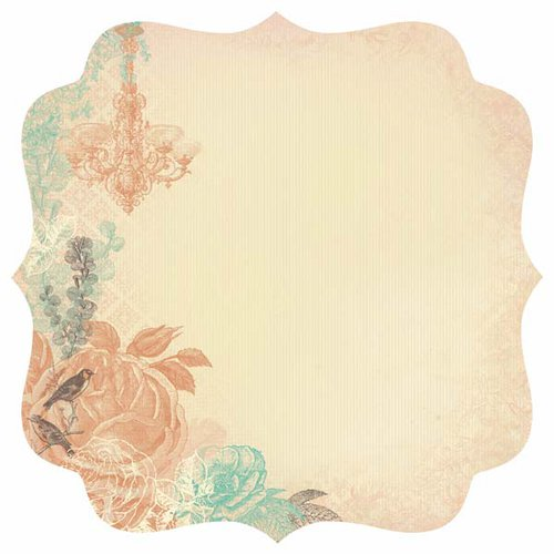 Kaisercraft - Periwinkle Collection - 12 x 12 Die Cut Paper - Shimmer