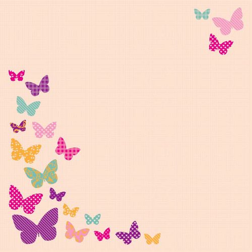 Kaisercraft - Butterfly Kisses Collection - 12 x 12 Die Cut Paper - Beauty