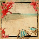 Kaisercraft - Tropicana Collection - 12 x 12 Paper with Varnish Accents - Deck Chair