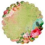 Kaisercraft - Secret Admirer Collection - 12 x 12 Die Cut Paper with Varnish Accents - Luscious