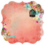 Kaisercraft - Secret Admirer Collection - 12 x 12 Die Cut Paper with Varnish Accents - Sweet Love