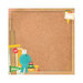 Kaisercraft - Class Act Collection - 12 x 12 Paper with Varnish Accents - Corkboard