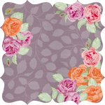 Kaisercraft - Flora Delight Collection - 12 x 12 Die Cut Paper with Varnish Accents - Dusk