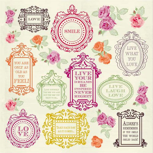 Kaisercraft - Flora Delight Collection - 12 x 12 Paper with Varnish Accents - Frame it