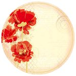 Kaisercraft - Remember Me Collection - 12 x 12 Die Cut Paper with Foil Accents - Poppies