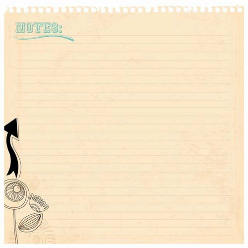 Kaisercraft - Hopscotch Collection - 12 x 12 Die Cut Paper - Notes
