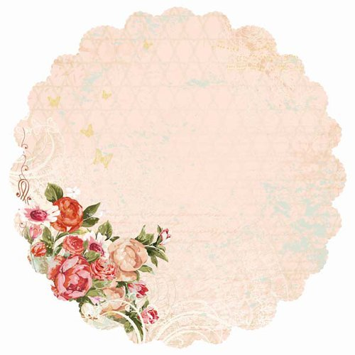 Kaisercraft - On This Day Collection - 12 x 12 Die Cut Paper with Foil Accents - Nuptials