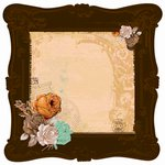 Kaisercraft - Miss Empire Collection - 12 x 12 Die Cut Paper with Glossy Accents - Brass