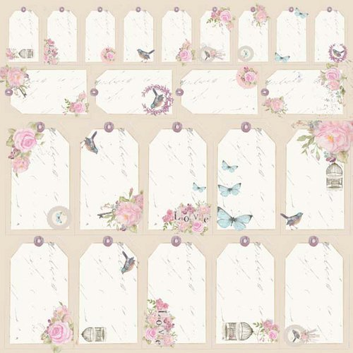 Kaisercraft - True Romance Collection - 12 x 12 Perforated Paper - Sweetheart