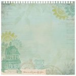 Kaisercraft - Heirloom Collection - 12 x 12 Die Cut Paper with Glossy Accents - Home