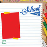 Kaisercraft - 2 Cool 4 School Collection - 12 x 12 Paper with Glossy Accents - Home Eco