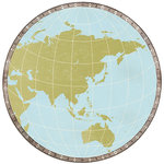 Kaisercraft - Wanderlust Collection - 12 x 12 Die Cut Paper - Globe