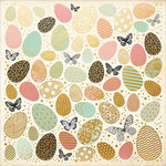 Kaisercraft - All That Glitters Collection - 12 x 12 Paper with Foil Accents - Golden Easter