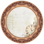 Kaisercraft - Antique Bazaar Collection - 12 x 12 Die Cut Paper - Bronze