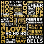 Kaisercraft - A Touch of Gold Collection - 12 x 12 Paper with Foil Accents - Christmas Words