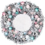 Kaisercraft - Silver Bells Collection - Christmas - 12 x 12 Die Cut Paper - Wreath