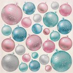 Kaisercraft - Silver Bells Collection - Christmas - 12 x 12 Paper with Foil Accents - Baubles