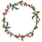 Kaisercraft - Home for Christmas Collection - 12 x 12 Die Cut Paper - Holly Wreath
