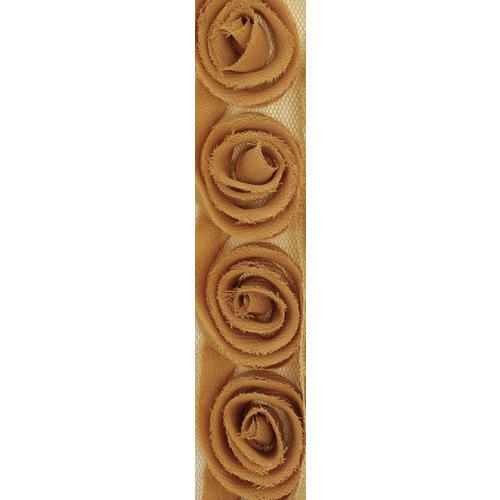 Kaisercraft - Ribbon - Roses - Mocha