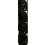 Kaisercraft - Ribbon - Roses - Ebony