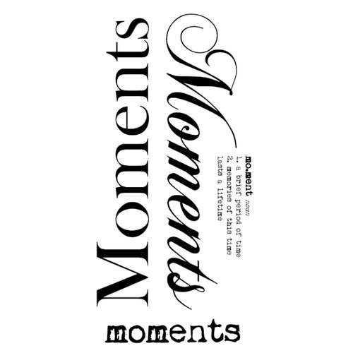 Kaisercraft - Rub Ons - Word - Moments