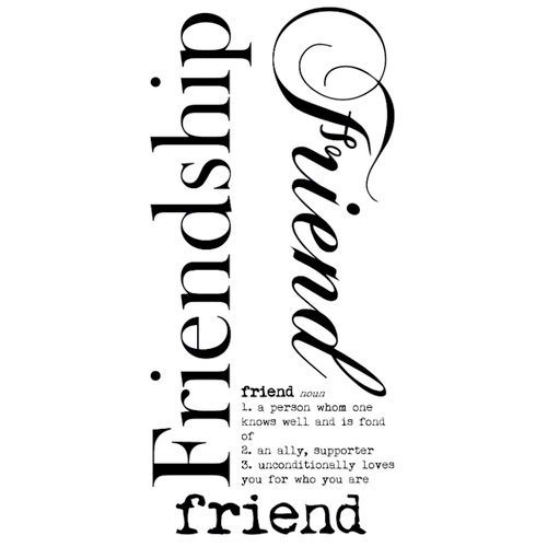 Kaisercraft - Rub Ons - Word - Friendship