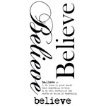Kaisercraft - Rub Ons - Word - Believe