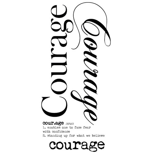 Kaisercraft - Rub Ons - Word - Courage
