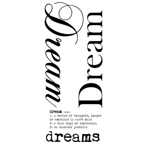 Kaisercraft - Rub Ons - Word - Dream