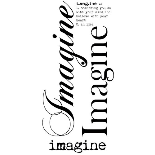 Kaisercraft - Rub Ons - Word - Imagine