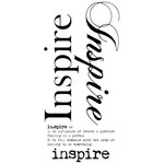 Kaisercraft - Rub Ons - Word - Inspire