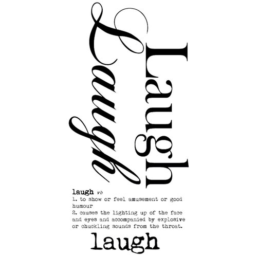 Kaisercraft - Rub Ons - Word - Laugh