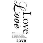 Kaisercraft - Rub Ons - Word - Love
