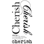 Kaisercraft - Rub Ons - Word - Cherish