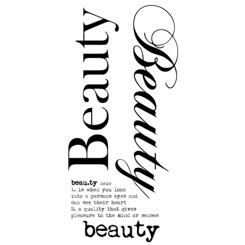 Kaisercraft - Rub Ons - Word - Beauty