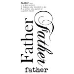 Kaisercraft - Rub Ons - Word - Father