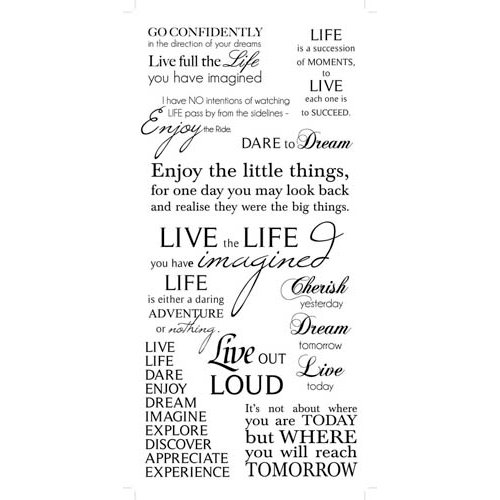 Kaisercraft - Rub Ons - Life Phrases - Black