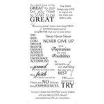 Kaisercraft - Rub Ons - Motivation Phrases - Black