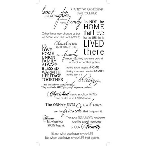 Kaisercraft - Rub Ons - Family Phrases - Black