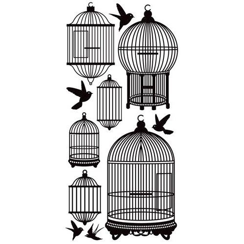 Kaisercraft - Timeless Collection - Rub Ons - Bird Cages