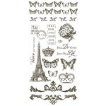 Kaisercraft - Bonjour Collection - Rub Ons - Brown