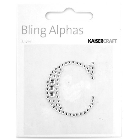 Kaisercraft - Bling Alphas Collection - Self Adhesive Monogram - Letter C