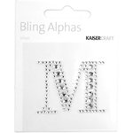 Kaisercraft - Bling Alphas Collection - Self Adhesive Monogram - Letter M
