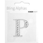 Kaisercraft - Bling Alphas Collection - Self Adhesive Monogram - Letter P
