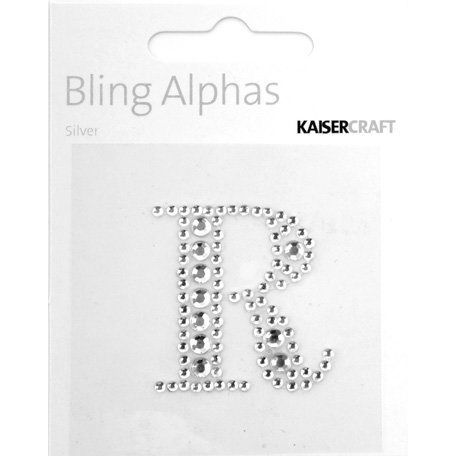 Kaisercraft - Bling Alphas Collection - Self Adhesive Monogram - Letter R