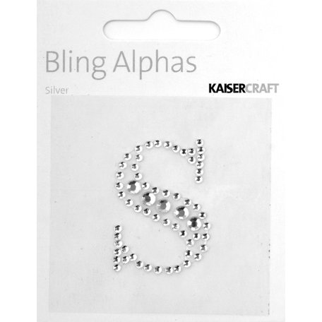 Kaisercraft - Bling Alphas Collection - Self Adhesive Monogram - Letter S