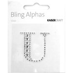 Kaisercraft - Bling Alphas Collection - Self Adhesive Monogram - Letter U