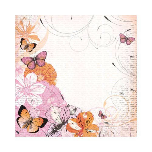 Kaisercraft - Tigerlilly Collection - 12 x 12 Scrapbook Album